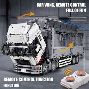 Image 4 - 23008 APP بمحركات تكنيك سيارات لعب متوافق مع MOC 1389 الجسم الجناح نماذج من الشاحنات اللبنات الطوب الاطفال هدايا عيد الميلاد