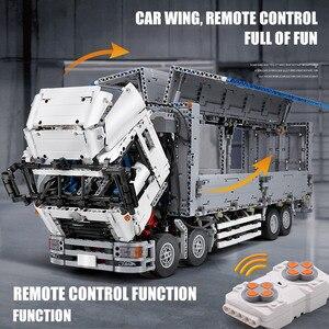 Image 4 - 23008 app motorizado técnica carro brinquedos compatíveis com MOC 1389 asa corpo caminhão modelo blocos de construção tijolos crianças presentes natal
