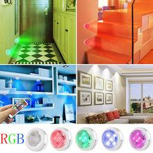 Wireless Led Lights Battery Closet Wardrobe Stairs Night Lamp Kitchen LED Under Cabinet Lights Touch Dimmable RGB LED Puck Light