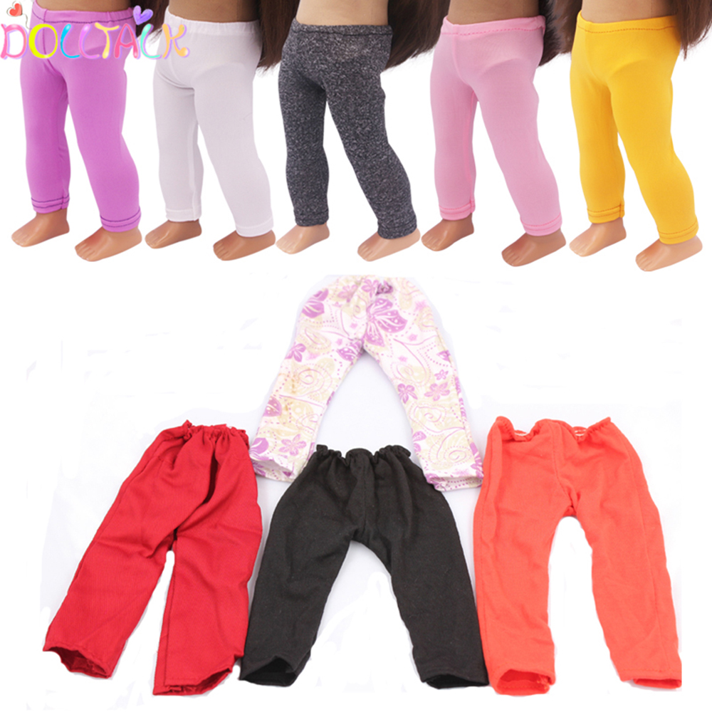 43cm New Baby Doll Leggings Pants Tights Collocation Cheap Micro Stretch Leggings For 18 Inch American DIY Dolls Accessories