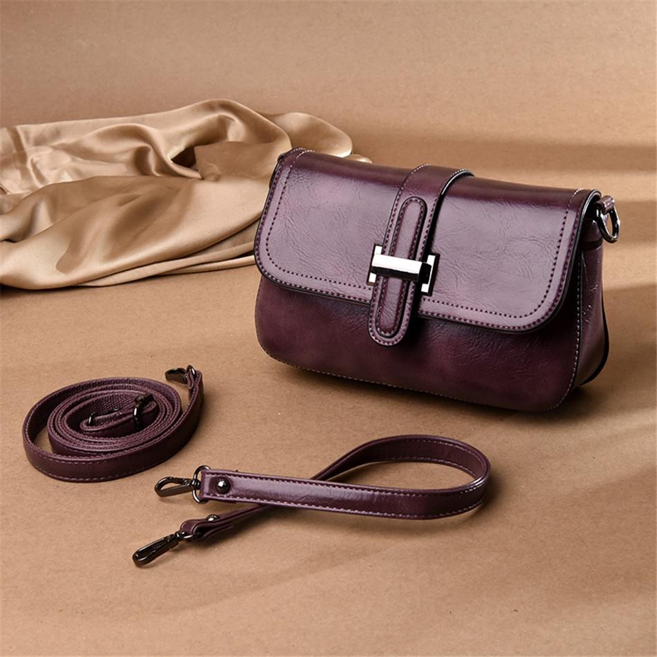 Image 4 - Vintage 3 in 1 Crossbody Bags For Women Messenger Bags 2019 Leather Luxury Handbags Women Bags Designer Sac A Main FemmeShoulder Bags   -