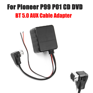 Image 1 - 12V HIFI Car bluetooth Module AUX Cable Adapter Audio Radio Stereo Fit For Pioneer P99 P01 CD DVD Head Unit