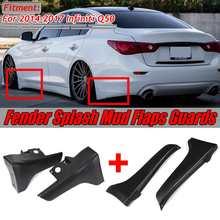 Черный Q50 передний/задний бампер для автомобиля для крыла Брызговики защита угловая защита для Infiniti Q50