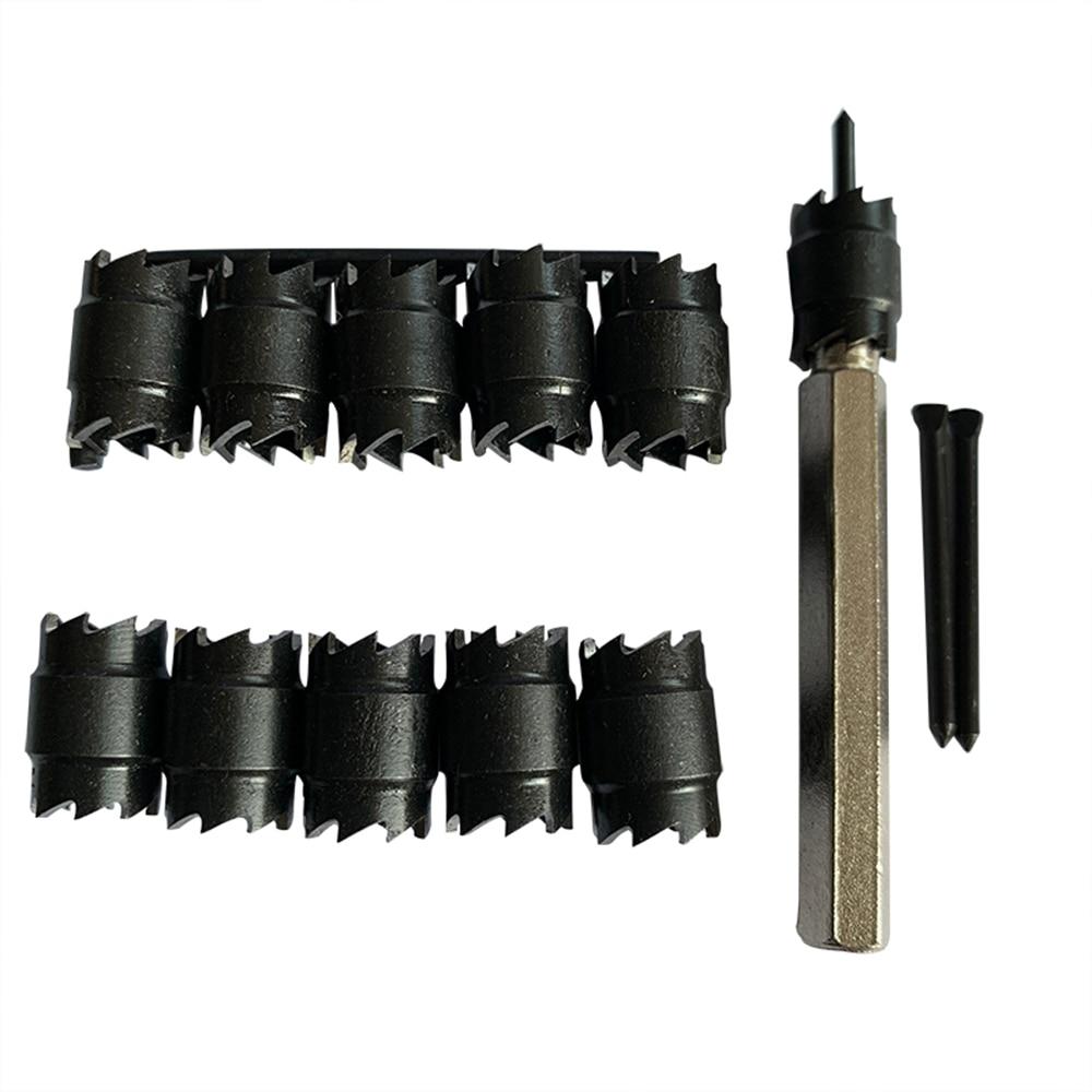 Image 2 - Набор открывалок для отверстий, 13 шт., Высокоскоростная сталь, 3/8 дюймов, вращающийся резак для точечного сварки, инструмент для удаления сверлАппараты точечной сварки    АлиЭкспресс