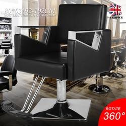 Friseur Stuhl Schwarz PU Leder Für 360 Swivel Stuhl Styling Barber Hair Cut Salon BarberShop Möbel Verstellbarer Stuhl