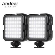 Andoer – éclairage LED à luminosité variable, 6000K, pour prise de vue, pour appareil photo reflex numérique Canon, Nikon, Sony