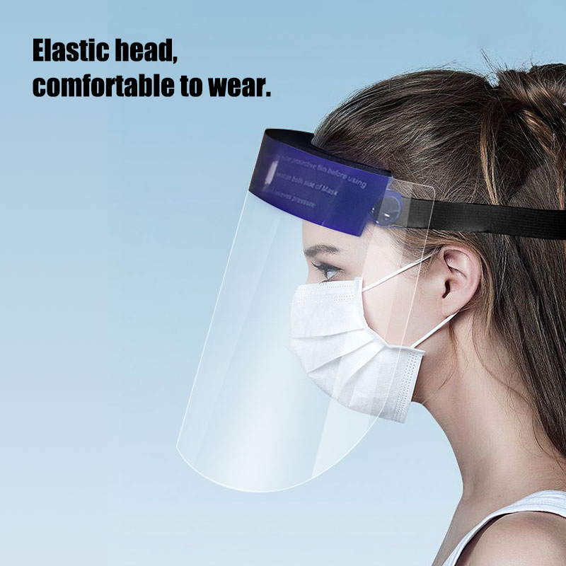 Transparent Protective Full Face Shield Covering Mask Safety Isolation Protector Facial Cover Oil Splash Proof Anti-saliva