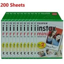 Fujifilm instax mini película 10 20 40 60 80 100 de 200 hojas Fuji 9 8 películas borde blanco películas instantánea mini 9 8 7s 25 50s 9 90