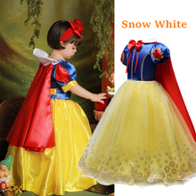 2020 Children Girl Snow White Dress for Girls Prom Princess Dress Kids Baby Gifts Intant Party Clothes Fancy Teenager Clothing cheap Ai Meng Baby Polyester Viscose CN(Origin) Ankle-Length Square Collar Regular Short Novelty Fits true to size take your normal size