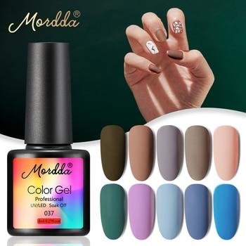 MORDDA 8 ML Gel Nail Polish Gel Varnish Semi Permanent UV LED Gel Nail Lacquer Soak Off Hybrid Gel Painting Need Matte Top Coat