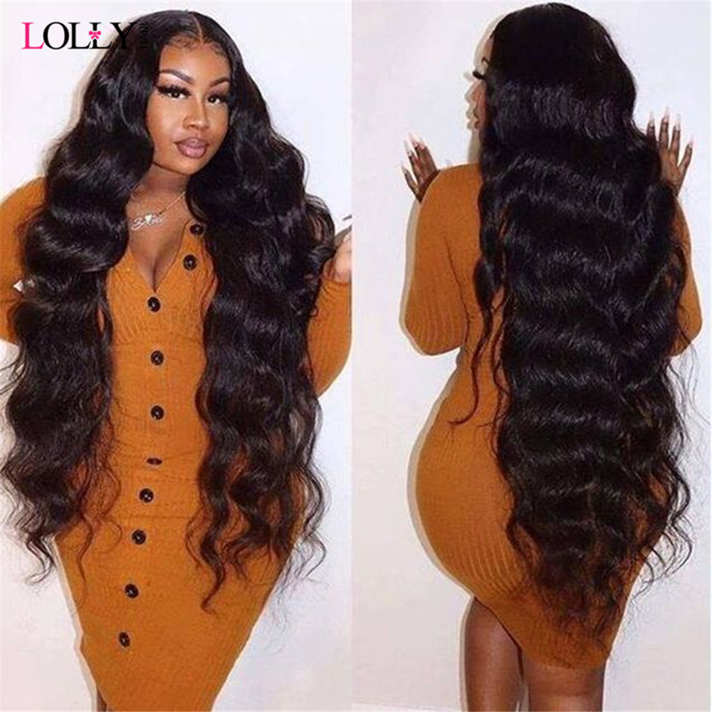 Transparent Lace Frontal Wig  Brazilian Closure Wig Remy 1