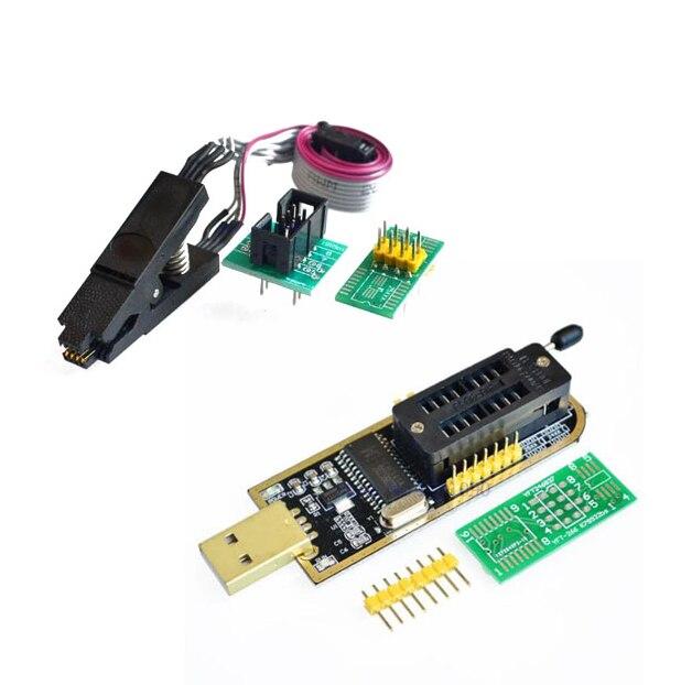 Ch341a 24 25 séries eeprom flash bios usb programador módulo + soic8 sop8 clipe de teste para eeprom 93cxx/25cxx/24cxx kit diy