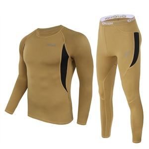 Image 2 - ESDY مجموعة ملابس داخلية شتوية حرارية ، بدلة رياضية سريعة الجفاف ، تي شيرت طويل مسامي ، ضيق ، سروال سترة دراجة نارية