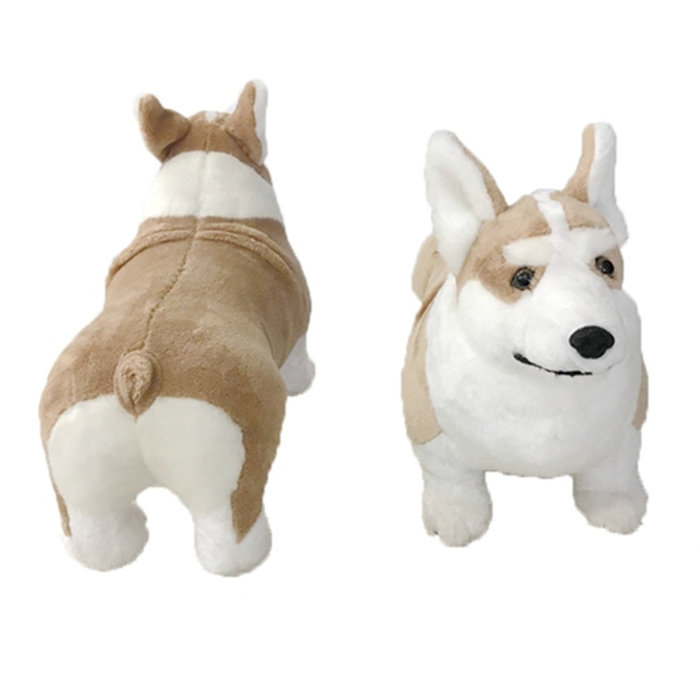 Fancytrader 20'' Cuddly Lifelike Simulation Plush Corgi Dog Toy for Children Simulated Stuffed Corgi Animals Dog Gift Doll 50cm
