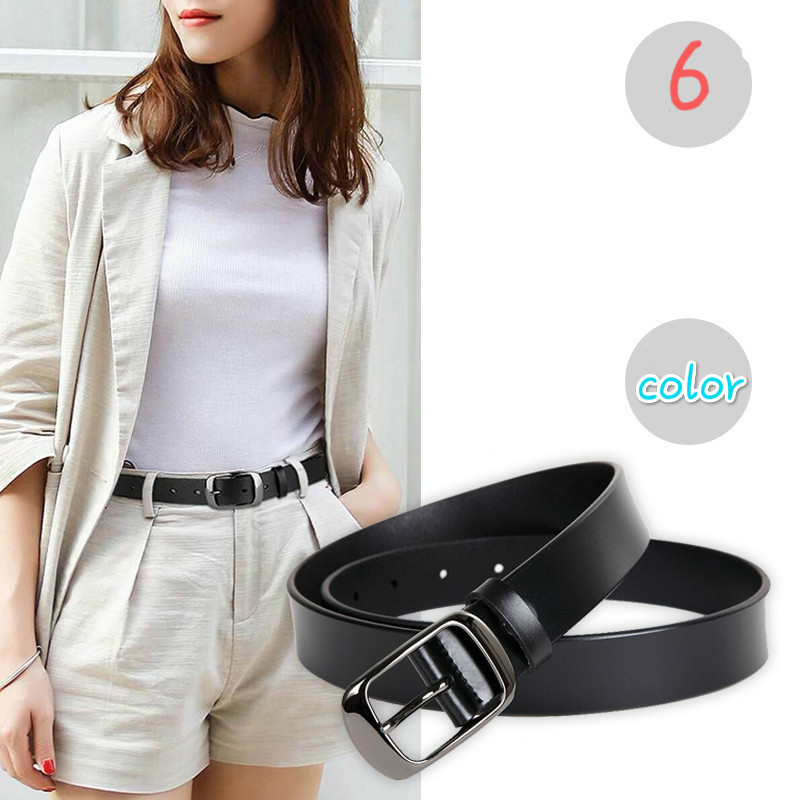 New Fashion Genuine Leather Cowhid Belt,Women's Without Drilling Luxury Jeans Belts Luxury Quality Designer Belt Women 2.8cm