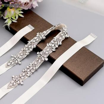 TOPQUEEN S429-S Wedding Bridal Rhinestone Sash Belts Dress Strap Female Belt for Dress Long Evening Dress Belt Silk Dress Belt babyonline dress 045g s
