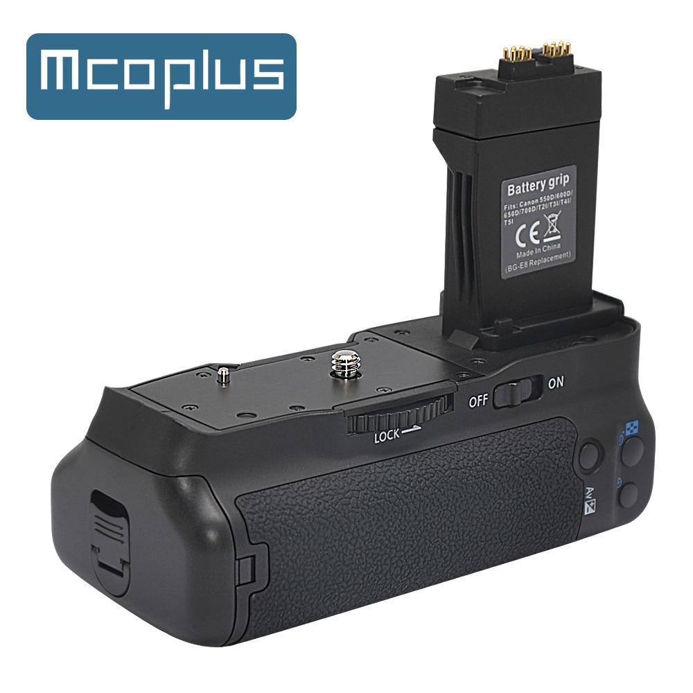 Mcoplus BG-550D Punho de Bateria Vertical para Canon EOS 550D 600D 650D 700D T2i T3i T4i T5i Câmera como BG-E8