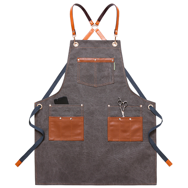 Canvas Kitchen Aprons For Chef Work 6