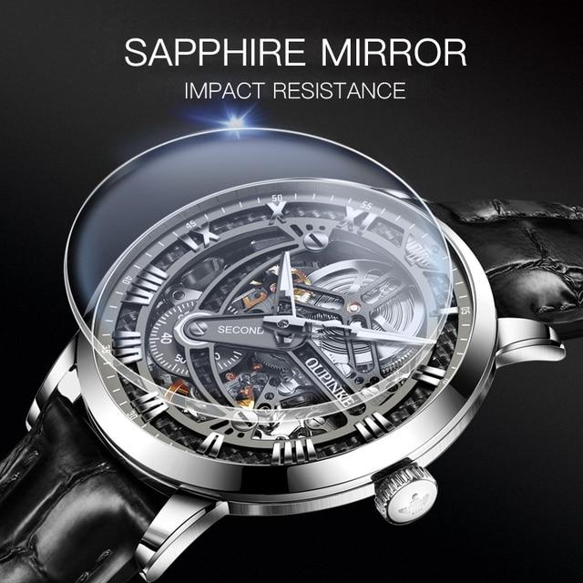 OUPINKE Swiss Tourbillon Skeleton Mechanical Watch 6