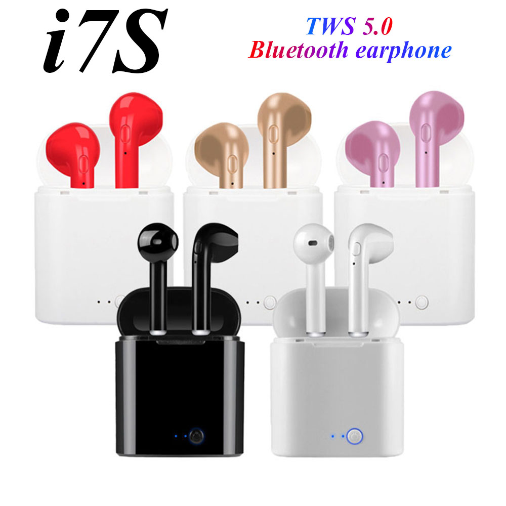 I7s TWS 5.0 Bluetooth Earphone Stereo Wireless Bluetooth Headphones HIFI Sports Earphones Handfree Gaming Headset For Iphone