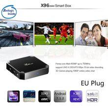 X96 Mini 4K TV Box Android 7.1.2 Internet Media Player 2.4GHz WiFi 16G EU plug