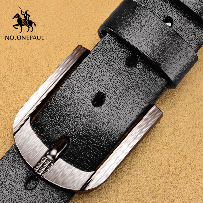 NO.ONEPAUL Fashion Leather Belts For Mens Casual Retro  Buckle Fashion Luxury Brand Belts Waist Leather Belt Men Free Shipping