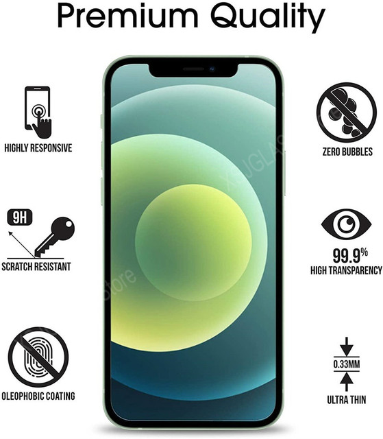 3PCS Protective Glass on For iPhone 11 12 Mini Pro Max screen protector Tempered glass For iPhone 6 S 7 8 Plus X XR XS Max Glass 2