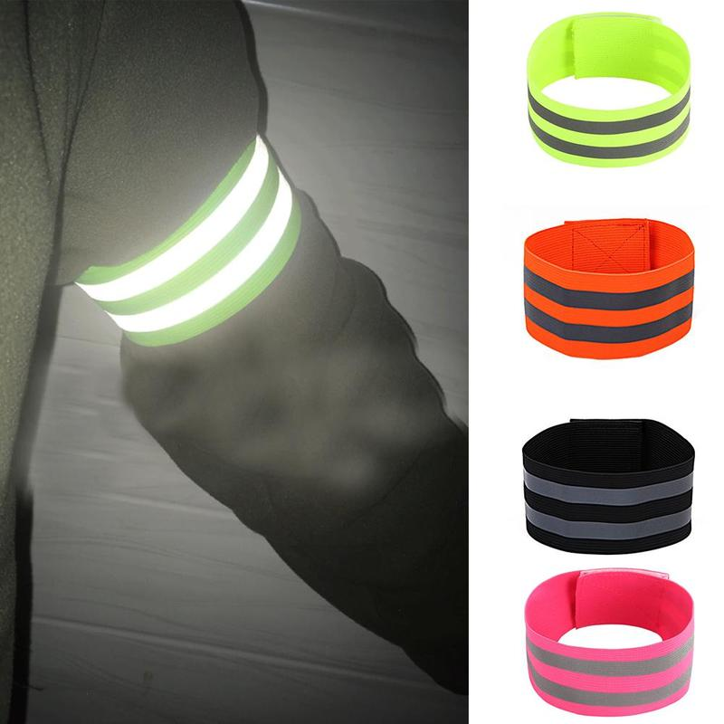 Reflective Bands Elastic Armband Wristband Ankle Leg Straps Safety Reflective Tape Straps For Night Jogging Walking Biking