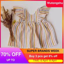 Newborn Girl Clothing Baby Striped Clothes-Sets Dress Shorts Summer Toddler Cotton 2pcs