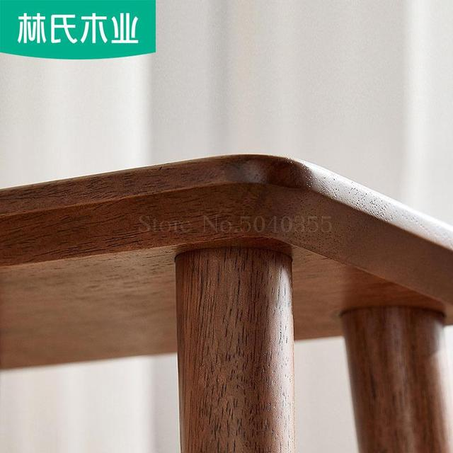 Nordic style solid wood stool children's living room home change shoes stool movable chair