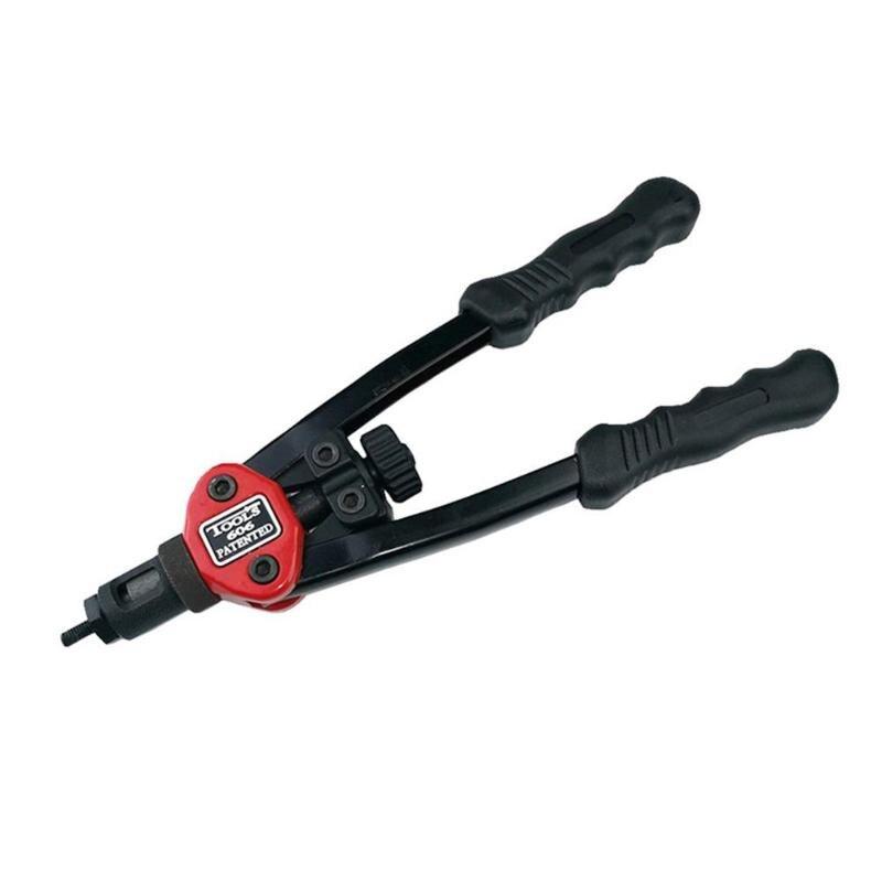 Auto Blind Rivet Gun Kit Rivet Repair Tool Blind Rivet Nut Gun Manual Threaded Hand Riveter Stainless Steel Flat Head Threaded