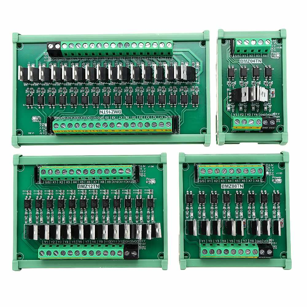 LEORY IO Card PLC Signal Amplifier Board PNP To NPN Mutual Input Optocoupler Isolation Transistor Output Low Level Relay Module