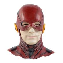 купить Justice League Super Heroes Latex Mask Action Figure Model Collection Halloween Full Head Barry Allen Cosplay Masks The Flash дешево