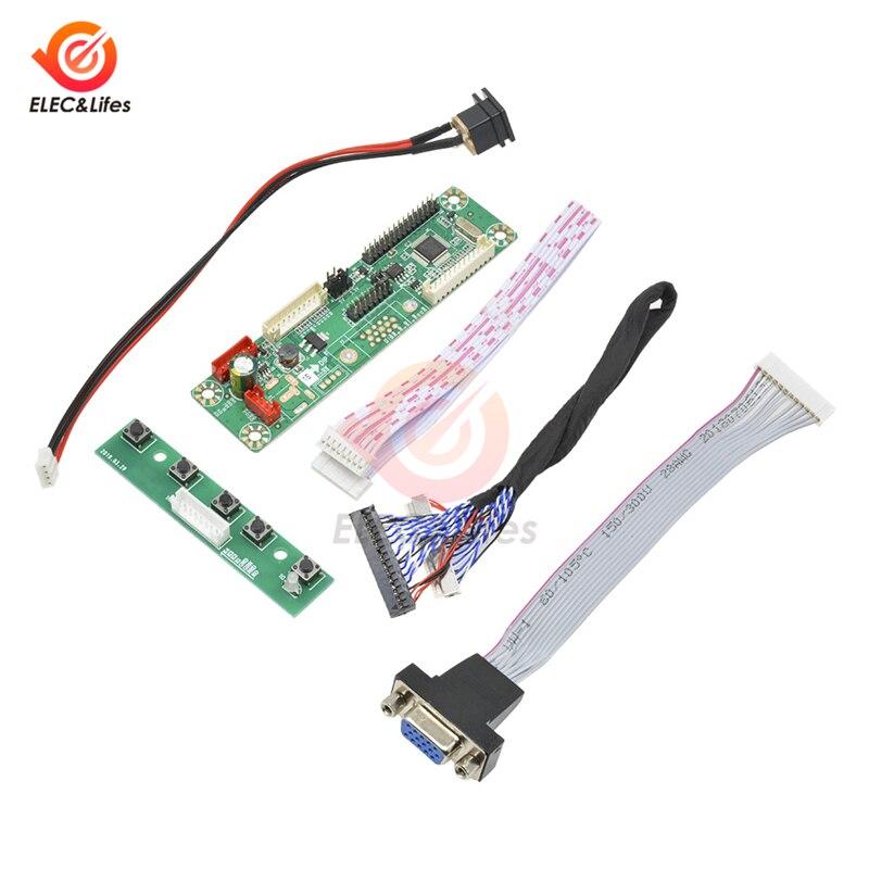 1 canal vga vídeo mt6820 MT6820-MD HX6820-A v2.0 universal lvds lcd montor placa de motorista de tela + cabo para 10-42 polegada exibição