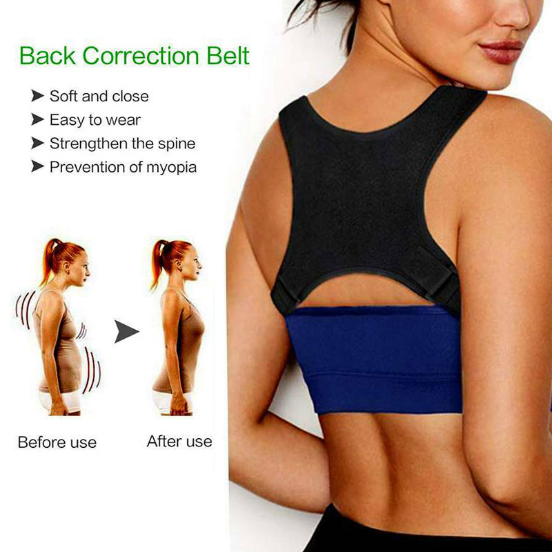 Volta postura corrector clavícula apoio correção volta ombros retos cinta com velcro para adulto chilren