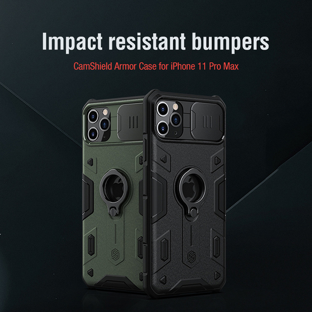 For iPhone 11 Pro Max Case NILLKIN CamShield Armor Case Lens protection Anti fall phone case For iPhone 11 Pro