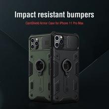 For iPhone 11 Pro Max 케이스 용 NILLKIN CamShield Armor 케이스 렌즈 보호 For iPhone 11 Pro Max 용 안티 폴드 폰 케이스