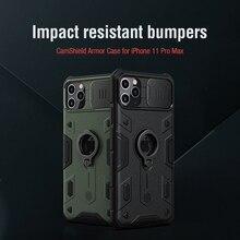 Para o iphone 11 pro max caso nillkin camshield armadura caso lente proteção anti queda caso do telefone para iphone 11 pro