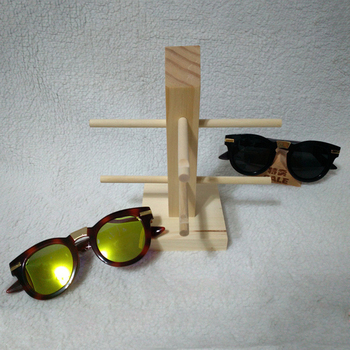 Wooden Glasses Sunglass Eyeglasses Display Rack Stand Organizer 3/4/5/6-Layer image