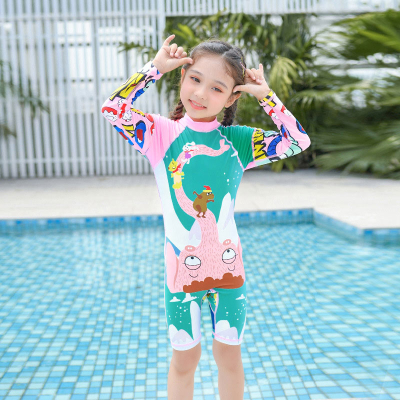 Baby Boys One-Piece-Swimsuit Sun Protective-Sunsuit Swimwear