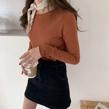 Black Solid Slim Tunic knitted women sweater 2019 Autumn Winter Long Sleeve Harajuku pullover Korean Sexy minimalist Top