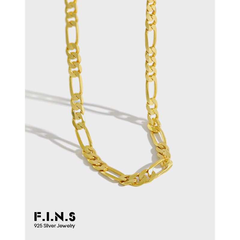 F.I.N.S S925 Sterling Silver Choker Necklace Clavicle Chain Female Necklace Silver Fashion Jewelry Ornament Women Accessories