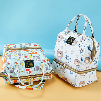 Baby Diaper Bag Small Mummy Maternity Backpack Bag For Baby Travel Waterproof Cartoon Bear Nappy Changing Bag Stroller Organizer Diaper Bags