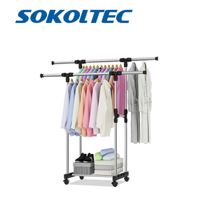 Image 1 - Fast Dispatch Sokoltec hanger home convenient drying rack multifunctional drying rack storage bag plastic storage rack