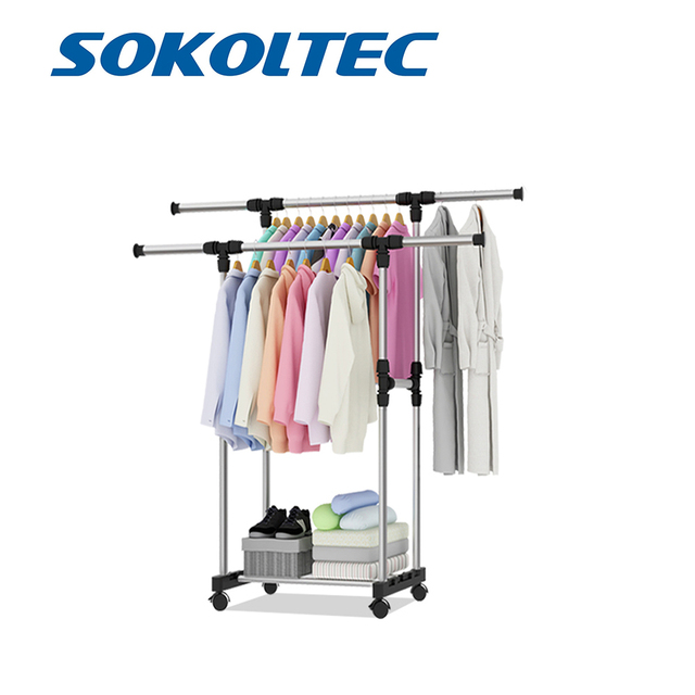 Fast Dispatch Sokoltec hanger home convenient drying rack multifunctional drying rack storage bag plastic storage rack