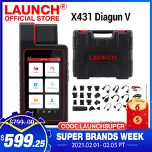 LAUNCH X431 Diagun V OBD2 Auto diagnostic tool full systemCode Reader scanner OBDII OBD Scan tool Update Online pk MK808 CRP909E