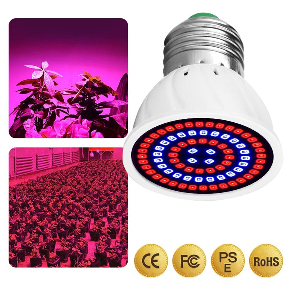 LED Plant Lamp Cup E27 /E14 /MR16 /GU10 /B22 Plant Growth 220V Plant Fill Light Phyto Led Grow Bulb Full Spectrum Seedling