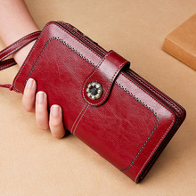 card holder women wallets split leather female purse long ladies phone bag large capacity lady wallet