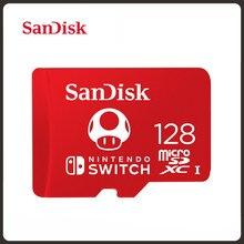 SanDisk-tarjeta micro sd de 128GB, 4GB, 256GB, 4K, Ultra HD, tf, tarjeta de memoria para expansión de juegos