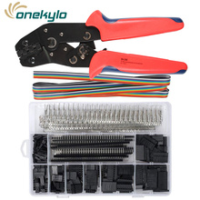 SN-28B Crimping Tools with 1550pcs Dupont Male/Female Pin Connectors 0.25-1.0mm² Crimping Set for 2.54mm 3.96mm KF2510 Connector